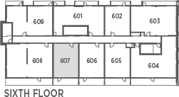 Suite 583 - 1 Bedroom Keyplan