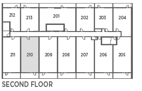 Suite 843 - 2 Bedroom + Den Keyplan